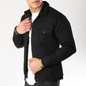 /achat-vestes-jean/classic-series-veste-jean-col-mouton-6196-noir-170378.html
