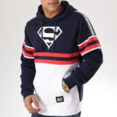/achat-sweats-capuche/superman-sweat-capuche-a-bandes-stripe-blanc-bleu-marine-170468.html