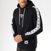/achat-sweats-capuche/superman-sweat-capuche-a-bandes-tape-noir-170476.html