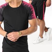 /achat-ensembles-survetement/zayne-paris-ensemble-tee-shirt-short-jogging-tx-179-noir-rose-170325.html