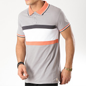 /achat-polos-manches-courtes/american-people-polo-manches-courtes-squiz-gris-clair-orange-blanc-gris-anthracite-170563.html