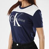/achat-t-shirts/calvin-klein-tee-shirt-femme-monogram-soft-blocking-0775-bleu-marine-blanc-170613.html