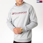 /achat-sweats-col-rond-crewneck/tommy-sport-sweat-crewneck-logo-0069-gris-170689.html