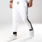 /achat-pantalons-joggings/gianni-kavanagh-pantalon-jogging-avec-bandes-gold-lurex-blanc-noir-dore-170856.html
