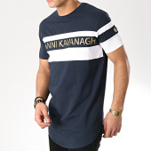/achat-t-shirts-longs-oversize/gianni-kavanagh-tee-shirt-oversize-asymmetric-block-bleu-marine-blanc-dore-170858.html