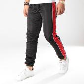/achat-pantalons-joggings/terance-kole-pantalon-jogging-avec-bandes-88034-noir-rouge-170841.html