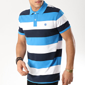 /achat-polos-manches-courtes/timberland-polo-manches-courtes-millers-river-bleu-marine-bleu-clair-blanc-170874.html