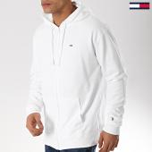 /achat-sweats-zippes-capuche/tommy-hilfiger-jeans-sweat-capuche-zippe-classics-6107-blanc-170755.html