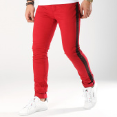 /achat-jeans/classic-series-jean-skinny-avec-bandes-th37501-rouge-noir-170882.html