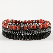/achat-bracelets/classic-series-lot-de-3-bracelets-32-noir-argente-rouge-brique-171043.html