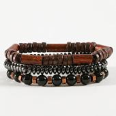 /achat-bracelets/classic-series-lot-de-3-bracelets-24-marron-noir-argente-171049.html