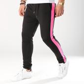 /achat-pantalons-joggings/frilivin-pantalon-jogging-a-bandes-1544-noir-rose-fluo-170937.html