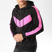 /achat-sweats-zippes-capuche/frilivin-sweat-zippe-capuche-a-bandes-6080-noir-rose-170943.html