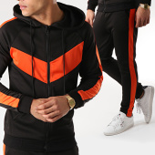 /achat-ensembles-survetement/frilivin-ensemble-de-survetement-avec-bandes-6080a-1544-noir-orange-170996.html