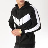 /achat-sweats-zippes-capuche/frilivin-sweat-zippe-capuche-a-bandes-6080-noir-blanc-170999.html