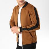 /achat-vestes/frilivin-veste-zippee-a-bandes-6095-camel-noir-171010.html
