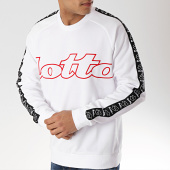 /achat-sweats-col-rond-crewneck/lotto-sweat-crewneck-avec-bandes-athletica-ii-210875-blanc-171021.html