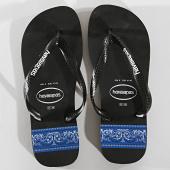 /achat-tongs/havaianas-tongs-stripes-logo-4132585-noir-bleu-roi-bandana-171148.html