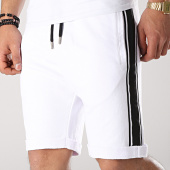 /achat-shorts-jogging/lbo-short-jogging-avec-bandes-noir-657-blanc-171265.html