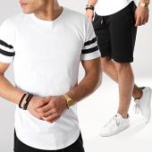 /achat-ensembles-survetement/lbo-ensemble-tee-shirt-et-short-avec-bandes-673-noir-blanc-171276.html