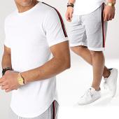 /achat-ensembles-survetement/lbo-ensemble-tee-shirt-et-short-avec-bandes-677-gris-blanc-171277.html