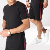 /achat-ensembles-survetement/lbo-ensemble-tee-shirt-et-short-avec-bandes-674-noir-171278.html