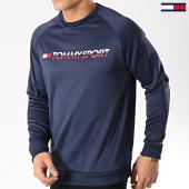 /achat-sweats-col-rond-crewneck/tommy-sport-sweat-crewneck-logo-s20s200069-bleu-marine-171113.html
