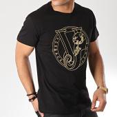 /achat-t-shirts/versace-jeans-tee-shirt-slim-foil-round-b3gtb76g-36610-noir-dore-171262.html