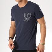 /achat-t-shirts-poche/selected-tee-shirt-poche-kristian-bleu-marine-171312.html