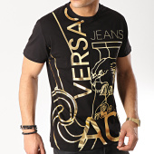 /achat-t-shirts/versace-jeans-tee-shirt-slim-foil-36-b3gtb760-36620-noir-dore-171284.html