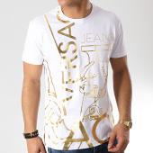 /achat-t-shirts/versace-jeans-tee-shirt-slim-foil-36-b3gtb760-36620-blanc-dore-171296.html