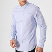 /achat-chemises-manches-longues/deeluxe-chemise-manches-crusoe-bleu-clair-blanc-171651.html