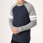 /achat-t-shirts-manches-longues/esprit-tee-shirt-manches-longues-019cc2k012-bleu-marine-gris-chine-171794.html
