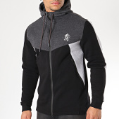 /achat-sweats-zippes-capuche/gym-king-sweat-zippe-capuche-koen-noir-gris-chine-171807.html