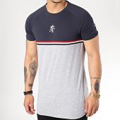 /achat-t-shirts/gym-king-tee-shirt-avec-bandes-gilchrist-gris-chine-bleu-marine-171810.html