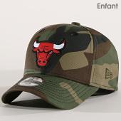 /achat-casquettes-de-baseball/new-era-casquette-enfant-character-940-chicago-bulls-vert-kaki-camouflage-171636.html