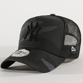 New Era - Casquette Trucker Camouflage Essential New York Yankees Gris Noir  Camouflage 38a20b3a8cf