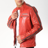 /achat-vestes-cuir/redskins-veste-cuir-cardiff-earley-rouge-gris-anthracite-171974.html