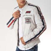 /achat-vestes/redskins-veste-cuir-patchs-brodes-ripper-calista-blanc-bleu-marine-171977.html