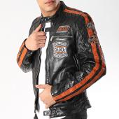 /achat-vestes/redskins-veste-cuir-patchs-brodes-ripper-calista-noir-rouge-brique-171978.html