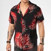 /achat-chemises-manches-courtes/sixth-june-chemise-manches-courtes-m3707vsh-noir-floral-rouge-171947.html