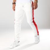 /achat-pantalons-joggings/sixth-june-pantalon-jogging-a-bandes-m3667cpa-blanc-rouge-171966.html