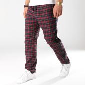 /achat-pantalons-carreaux/sixth-june-pantalon-carreaux-avec-bandes-satine-m3718cpa-rouge-noir-171996.html