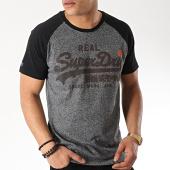 /achat-t-shirts/superdry-tee-shirt-vintage-logo-m10131tt-noir-gris-anthracite-chine-171897.html