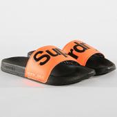 /achat-claquettes-sandales/superdry-claquettes-mf3108st-orange-fluo-noir-171914.html