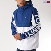 /achat-vestes/tommy-hilfiger-jeans-veste-outdoor-graphic-popover-5978-blanc-bleu-roi-171857.html