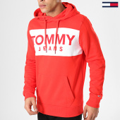 /achat-sweats-capuche/tommy-hilfiger-jeans-sweat-capuche-bold-logo-6106-rouge-171861.html