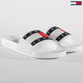 /achat-claquettes-sandales/tommy-hilfiger-jeans-claquettes-flag-em0em00284-blanc-171958.html