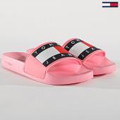 /achat-claquettes-sandales/tommy-hilfiger-jeans-claquettes-femme-flag-en0en00474-rose-171989.html