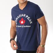 /achat-t-shirts/canadian-peak-tee-shirt-col-v-jotta-bleu-marine-172067.html